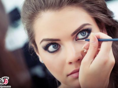 آموزش مرحله به مرحله آرایش چشم ریز و درشت کردن چشم